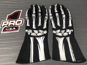 Pro 1 SFI3.3/5 JUNIOR SKELETON Nomex Gloves w/Silicone Grip